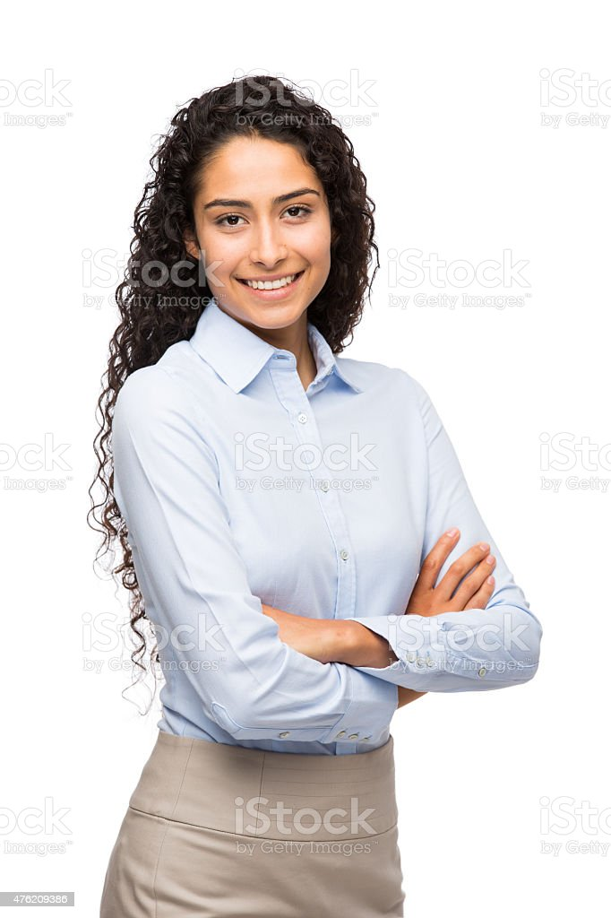 Close-up of businesswoman stock photo
