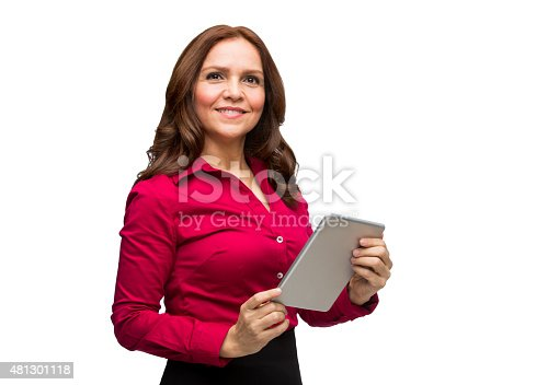 1150572102istockphoto Close-up of businesswoman using digital tablet 481301118
