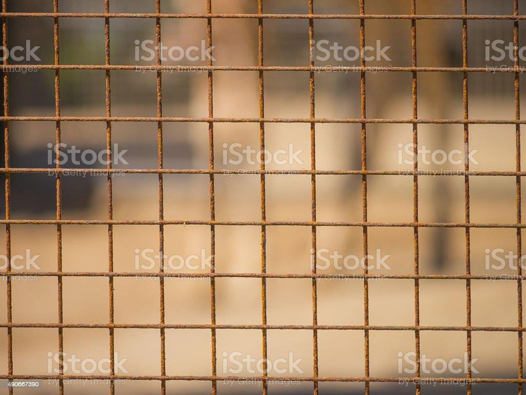 Close-up di gabbia in zoo - foto stock