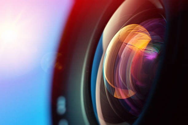 close-up of camera lens - aperture stock pictures, royalty-free photos & images