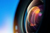 istock Close-up of camera lens 537404125