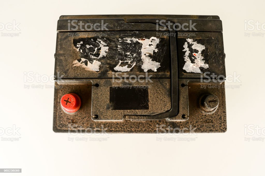 Close-up of car battery royalty-free stock photo