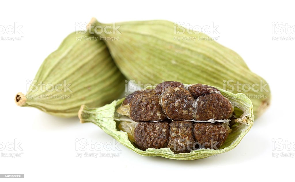 Closeup of cardamoms stock photo