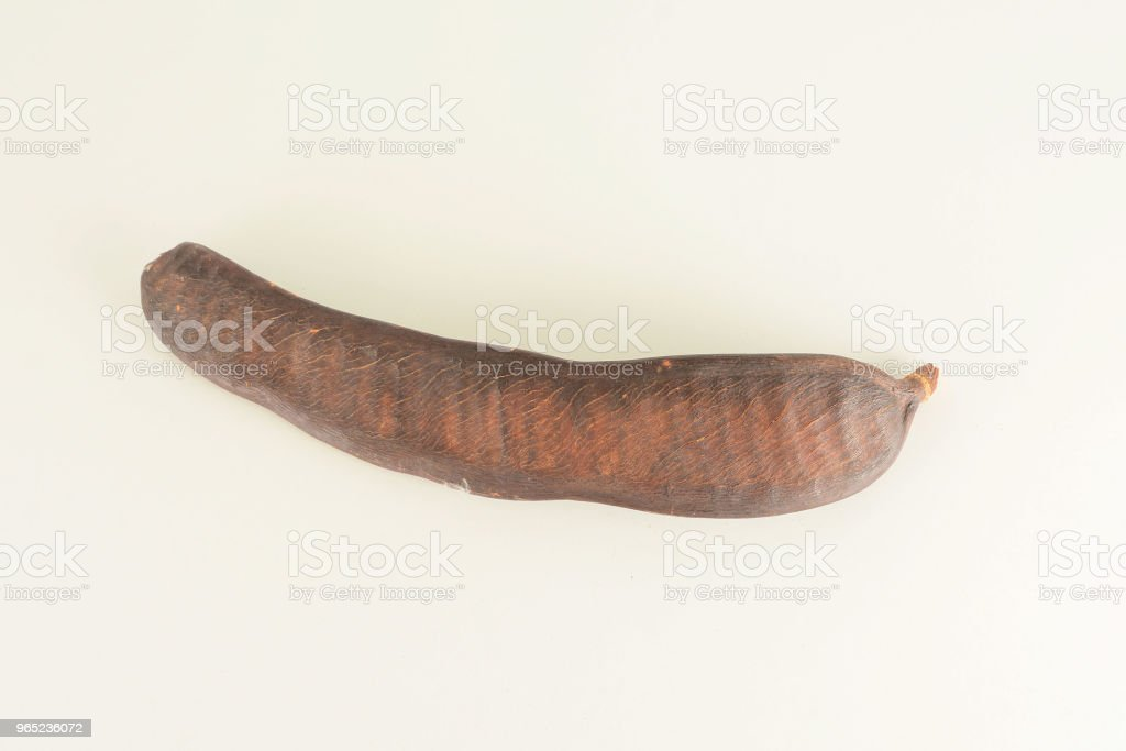 Close-up of carob fruit royalty-free stock photo