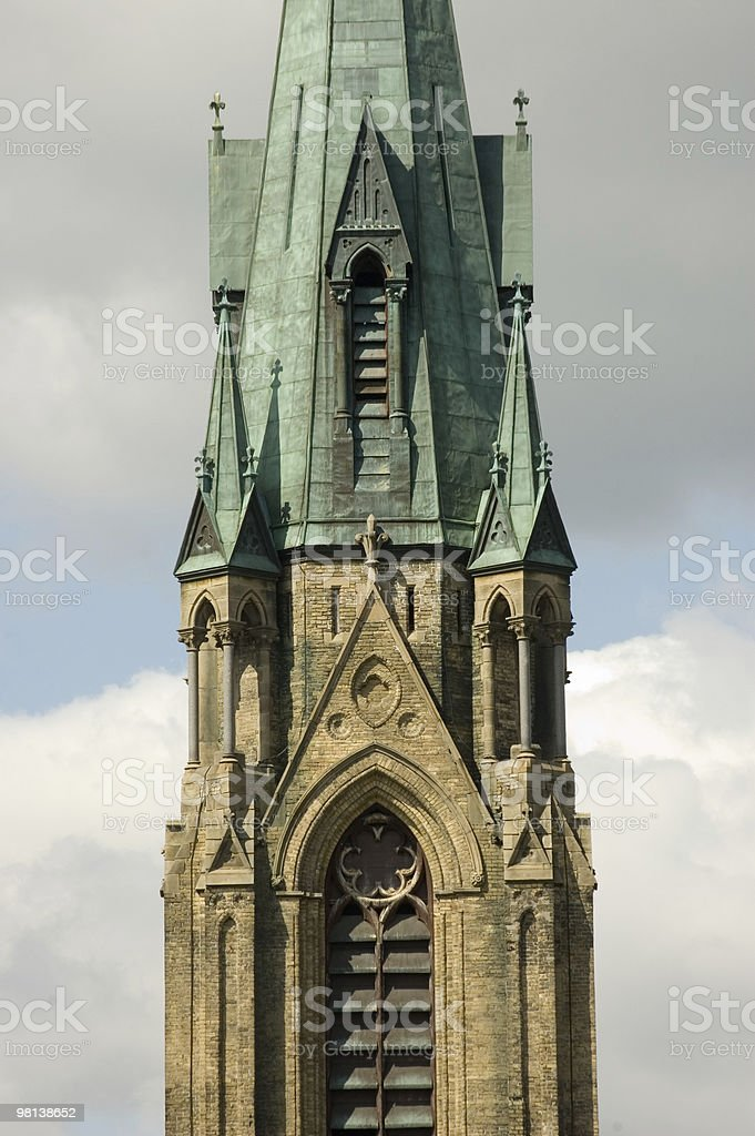 Close-up of catholic church royalty-free stock photo