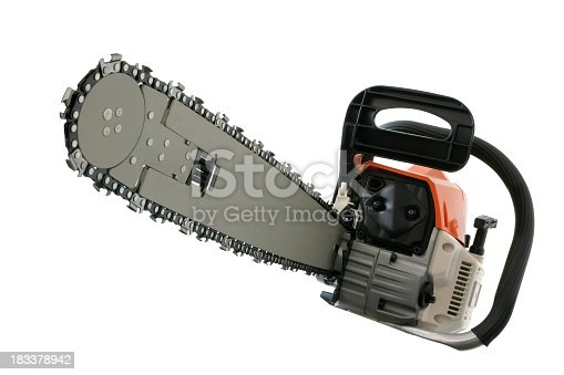 The Chain Saw front view on the white background.