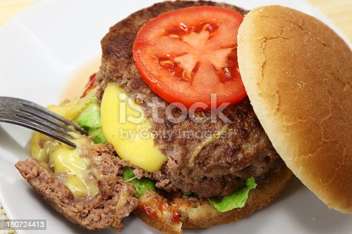 Gouda Cheese stuffed burger