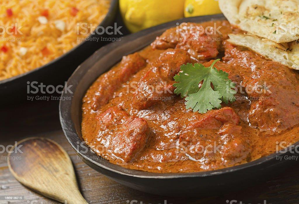 Close-up of chicken tikka masala stock photo