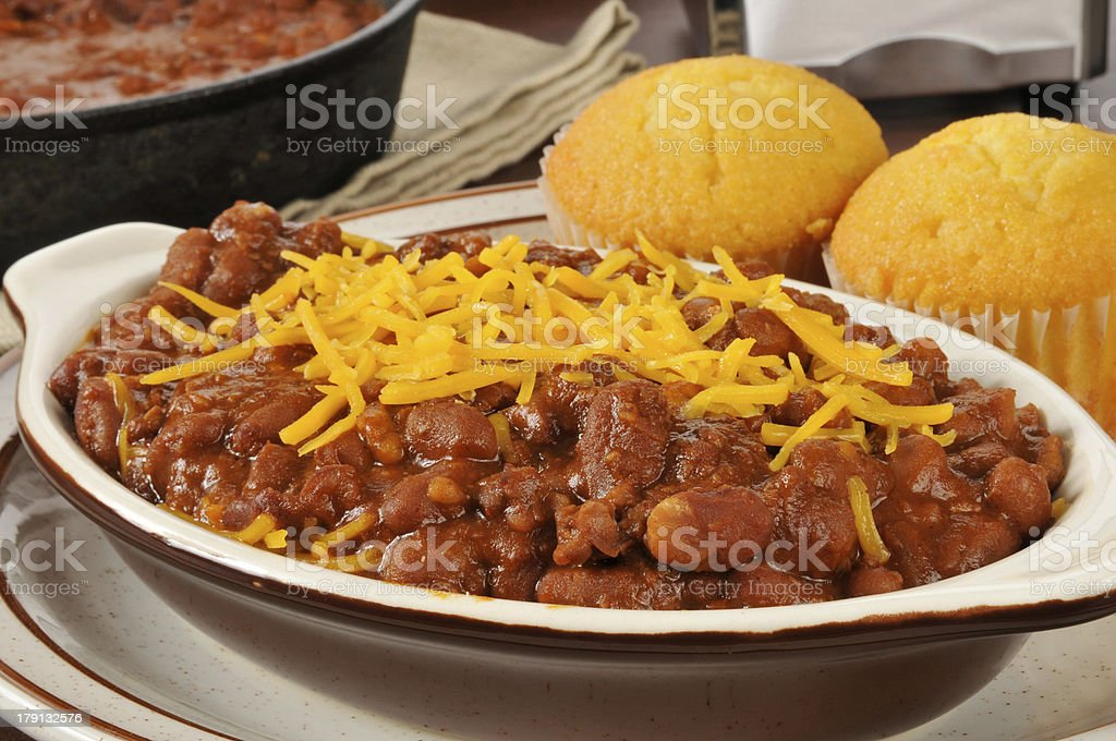 Closeup of chili con carne royalty-free stock photo