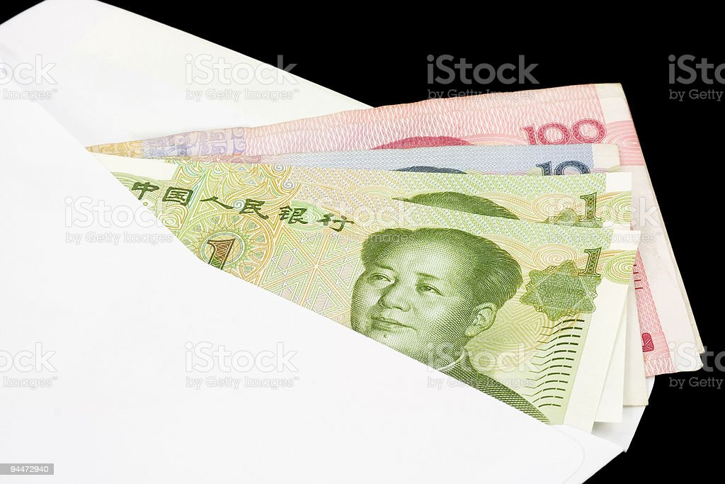 Closeup of Chinese currency  Agreement Stock Photo