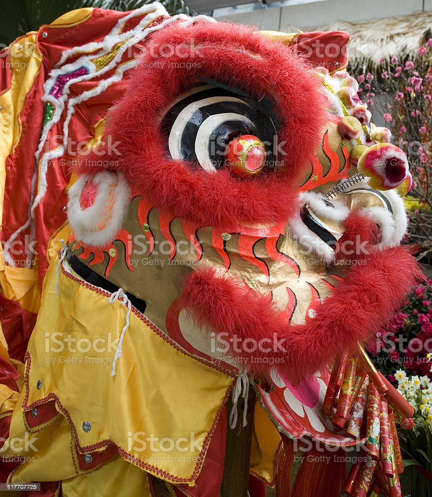 Close-up of chinese dragon head stock photo