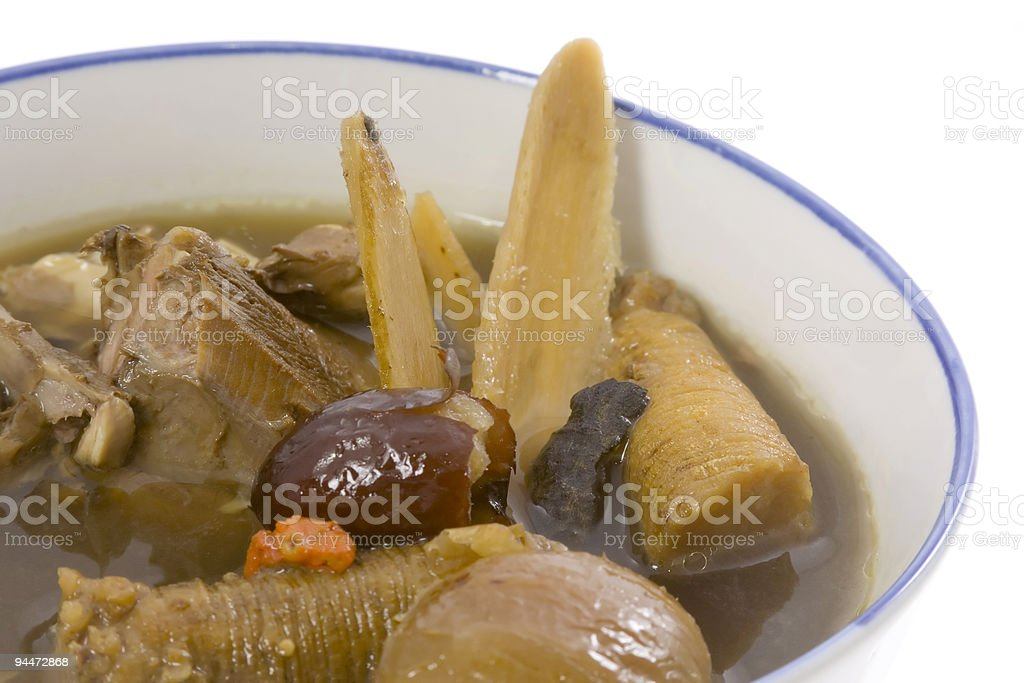 Closeup of Chinese herbal soup royalty-free stock photo