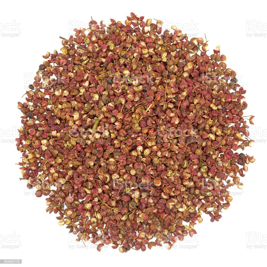close-up of chinese sichuan pepper corns. stock photo