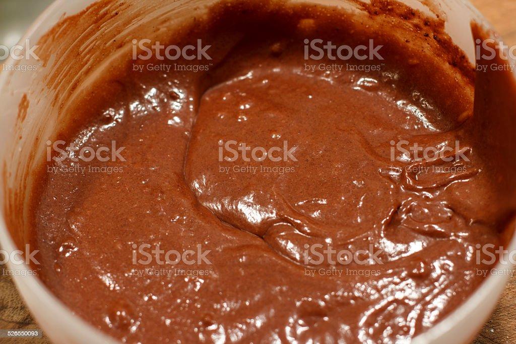 Close-up of Chocolate cake batter stock photo