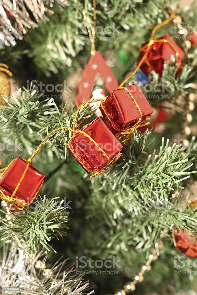closeup of christmas decorations royalty-free stock photo