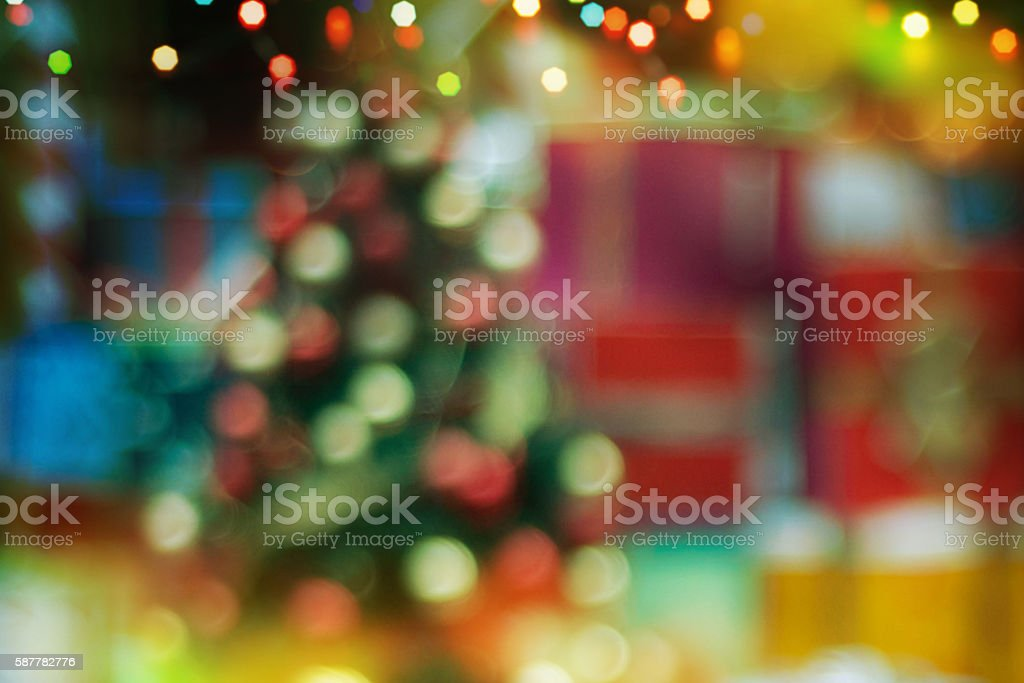 Closeup Of Christmas Tree Decorations Background Royalty Free Stock Photo