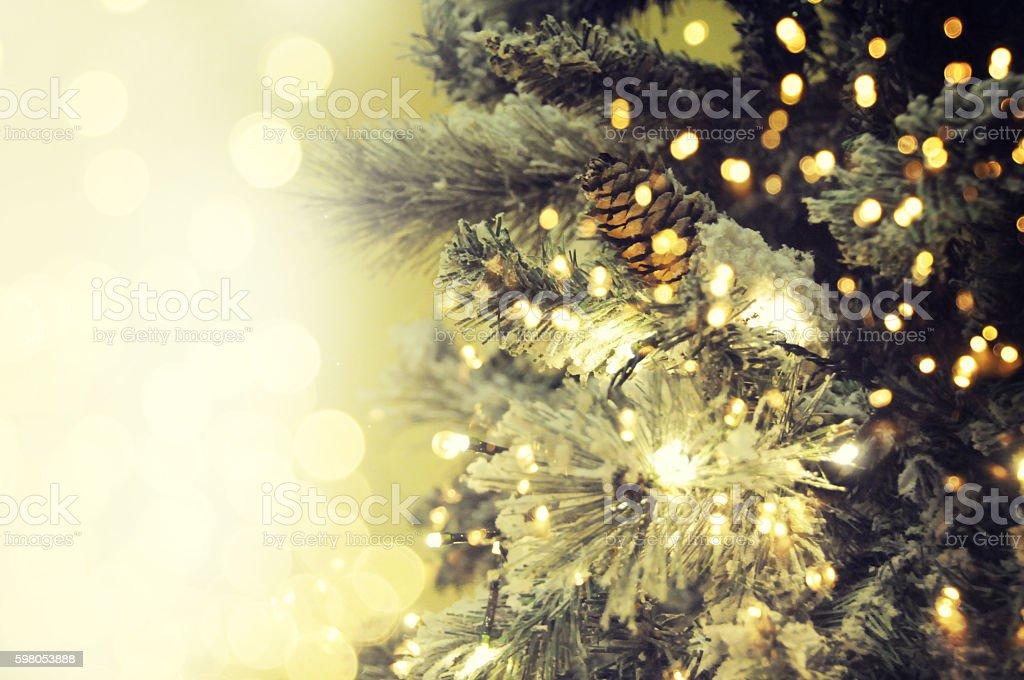 Closeup of Christmas-tree stock photo