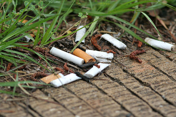 mozziconi di sigarette - cicca sigaretta foto e immagini stock