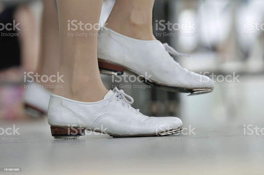 Closeup of Clogger's Shoes Dancing stock photo