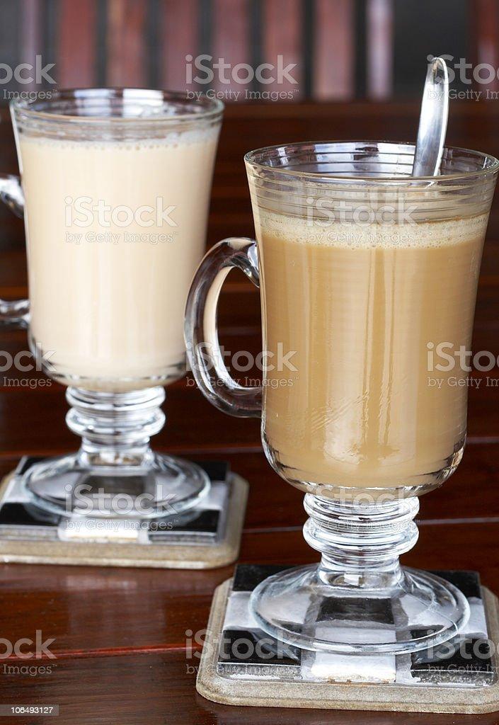 Closeup of coffee and tea royalty-free stock photo