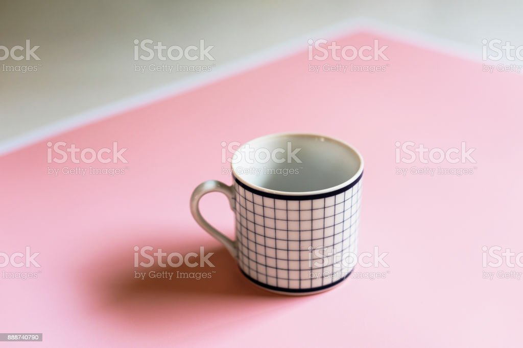 Closeup of coffee cup stock photo
