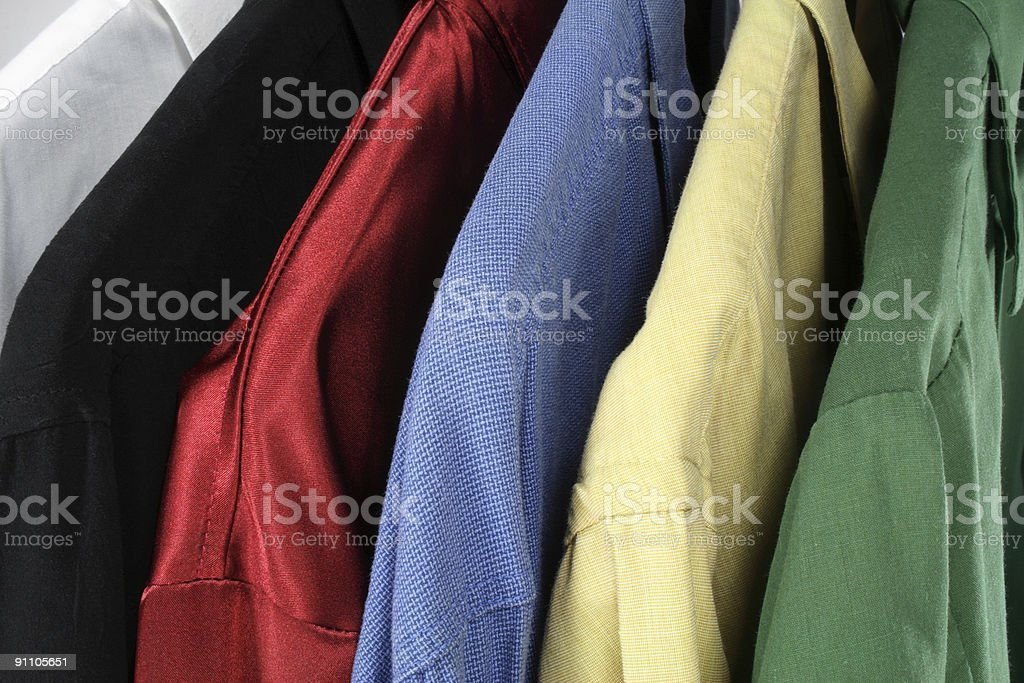 Closeup of colorful clothes royalty-free stock photo