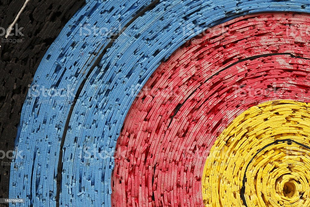 Close-up of colorful paper dart board stock photo