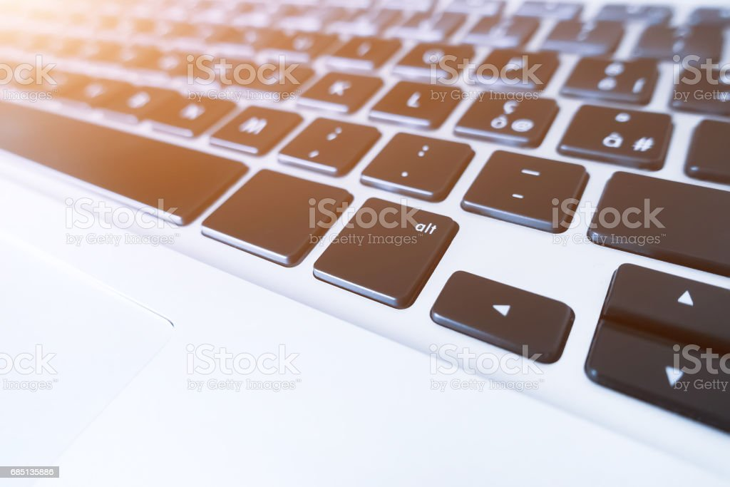 Close-up of computer/laptop keyboard. royalty-free stock photo