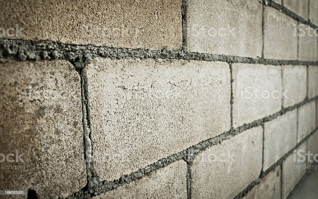 Closeup of concrete block wall royalty-free stock photo