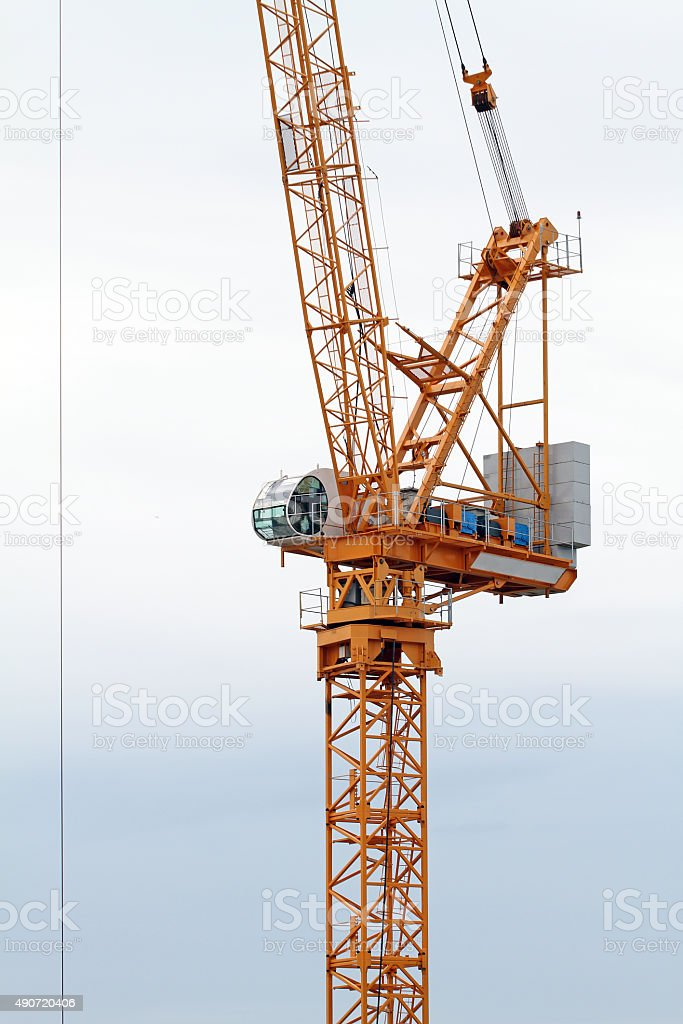 Closeup Of Construction Crane stock photo