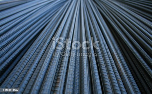 A pile of construction rod