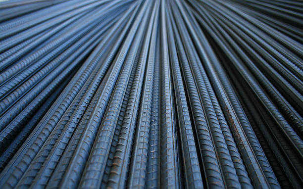 Closeup of construction rods in the background A pile of construction rod rod stock pictures, royalty-free photos & images
