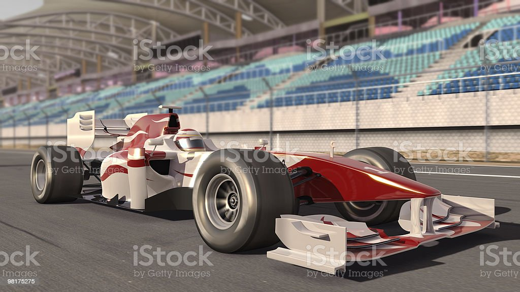 Close-up of cool formula one race car on trace track royalty-free stock photo