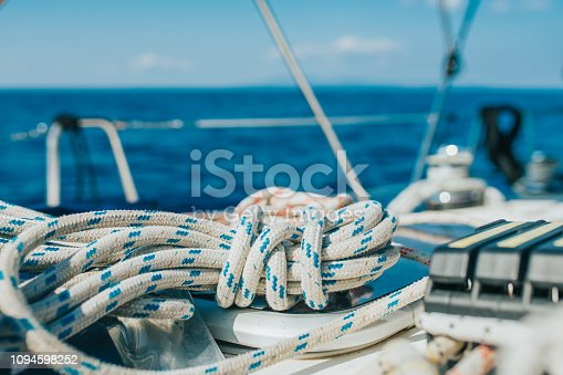 Close-up of cord on boat