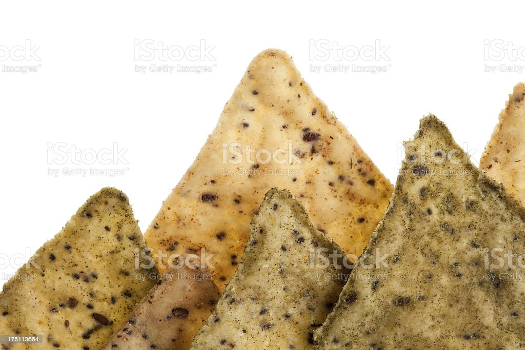 Closeup of corn chips royalty-free stock photo