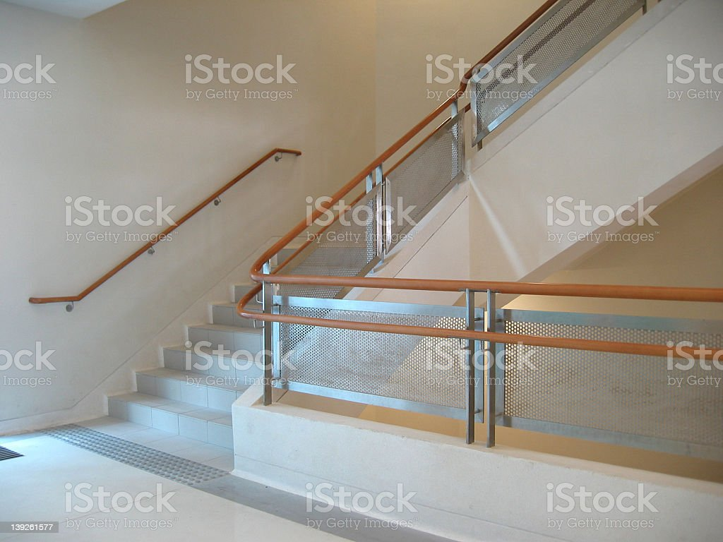 Close-up of corridor around the corner of a building royalty-free stock photo