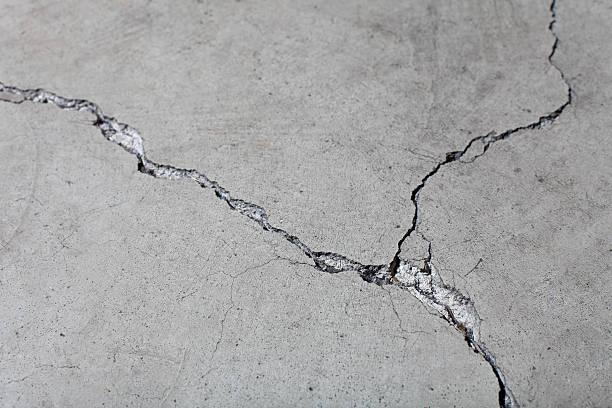 Nahaufnahme von Beton Boden geknackt Oberfläche – Foto