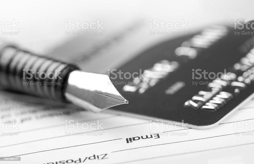 Detalhe do cartão de crédito - foto de acervo