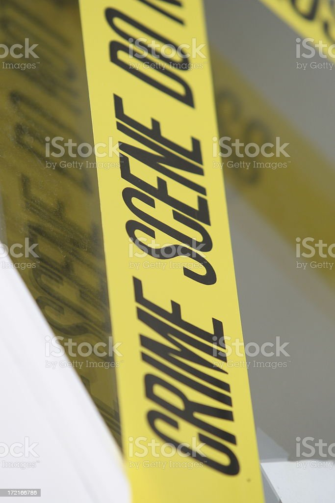 Close-up of crime scene tape royalty-free stock photo