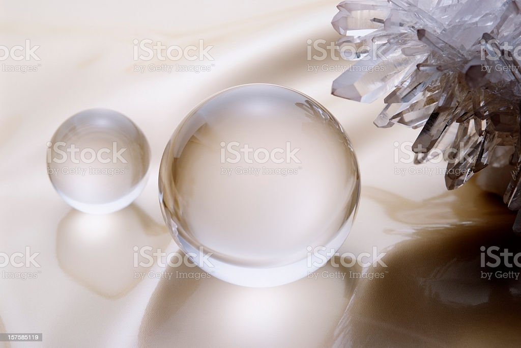 Close-up of Crystal ball with Crystal stock photo