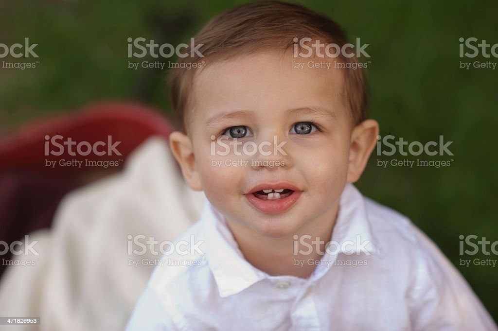 Closeup of Cute Baby Boy royalty-free stock photo