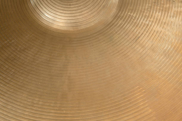 closeup of cymbal closeup of gold colored cymbal on horizontal picture cymbal stock pictures, royalty-free photos & images