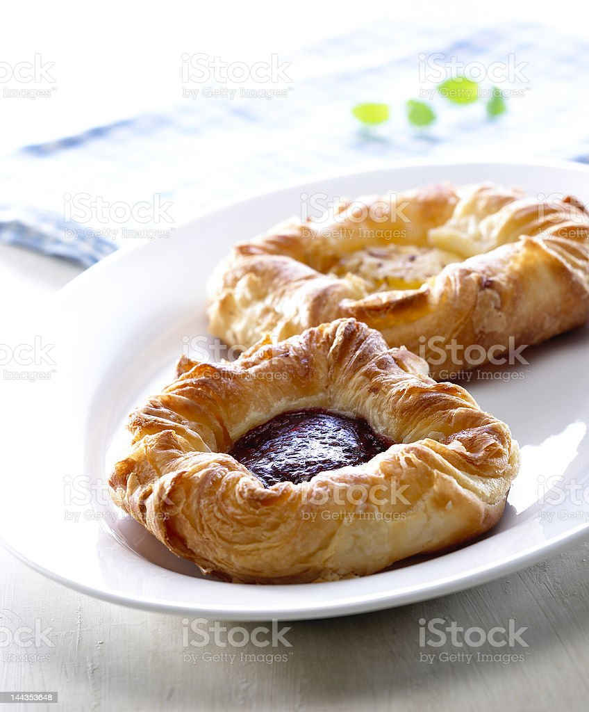 Close-up of Danish Pastry royalty-free stock photo