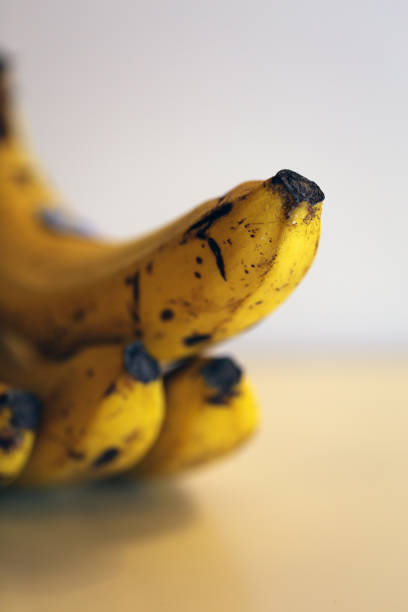 A Closeup of Details of the Bananas stock photo