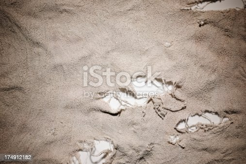 istock Close-up of dirty rag texture background 174912182