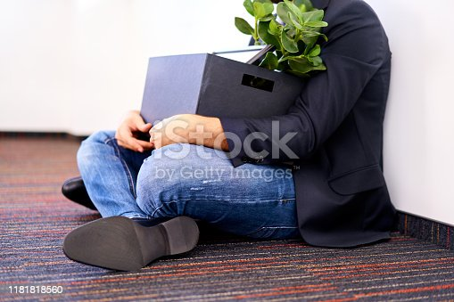 1181817161 istock photo Closeup of dismissed man in office 1181818560