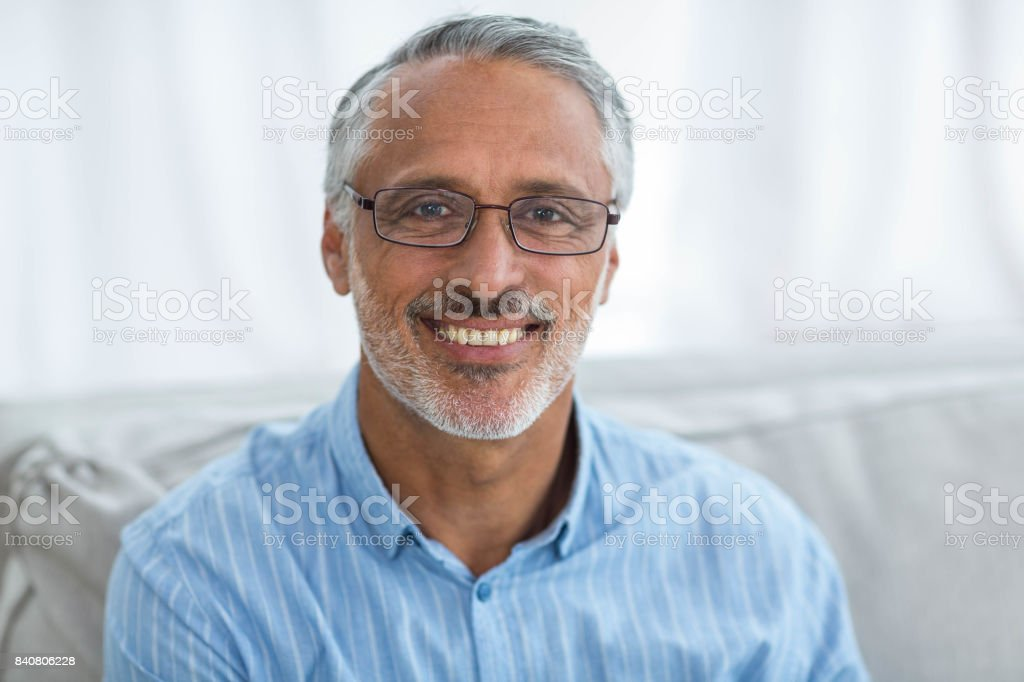 Close-up of doctor smiling stock photo