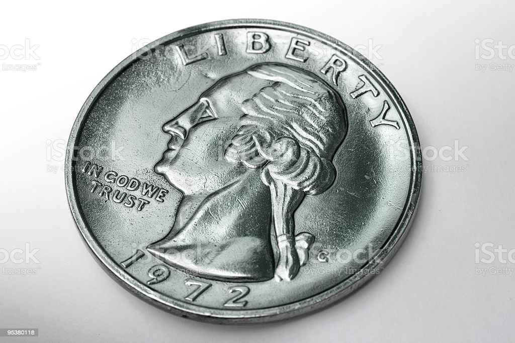 Close-up of dollar coin royalty-free stock photo