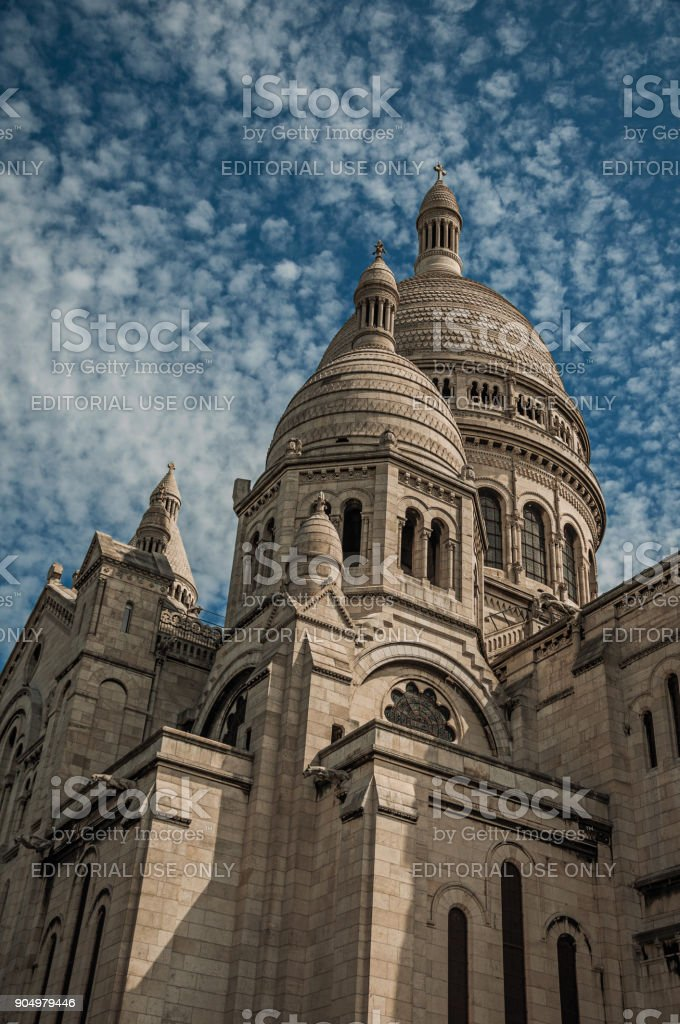 Closeup Of Domes And Decoration At The Basilica Of Sacre Coeur ... on