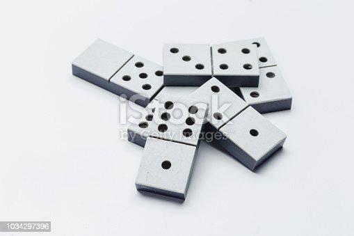 Closeup of domino game